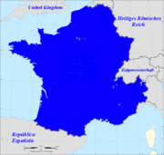 Map of France (French 1815, German 1914)