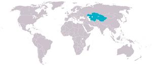 Location of Turkestan