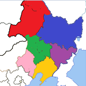 Divisons of Manchuria