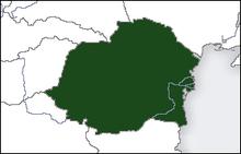 Location of the Kingdom of Romania