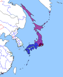 Map of Japan 2000 (Yellowstone 1935)