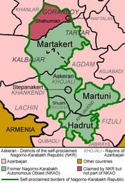 Nagorno-Karabakh regions named english