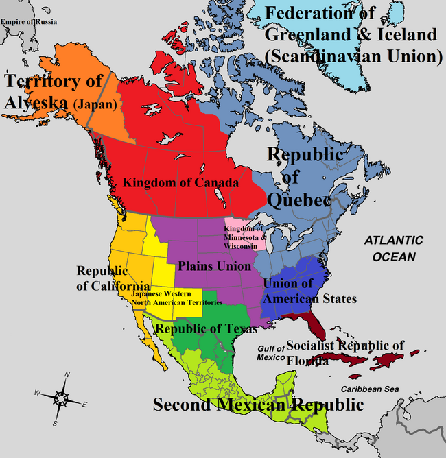 Map of North America (Land of Empires)
