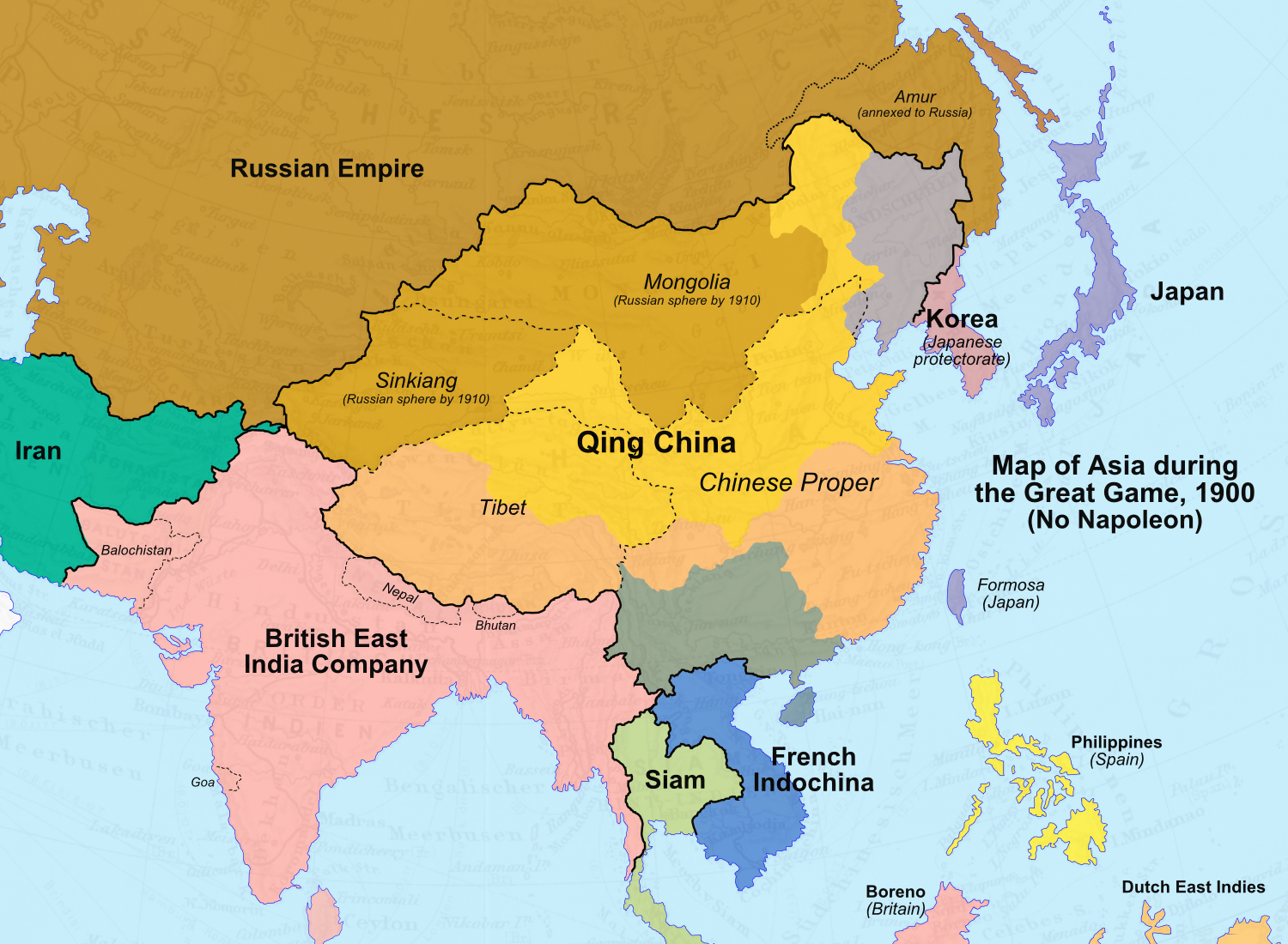 Image Map of Asia 1900 No Napoleonpng – Full Map of Asia