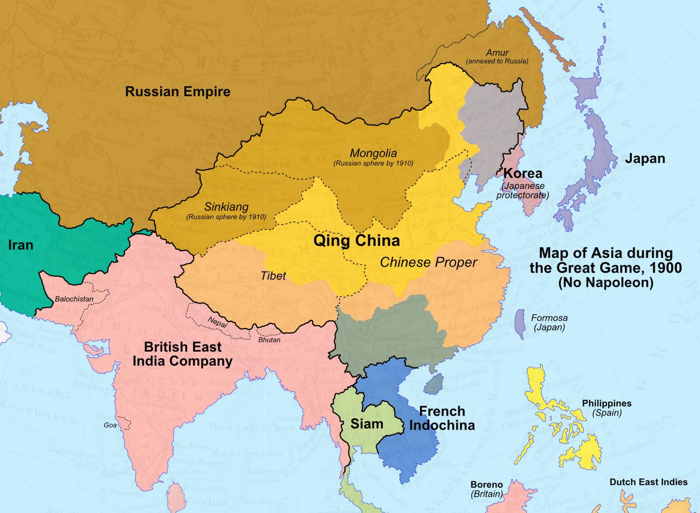 Image Map Of Asia No Napoleonpng Alternative History - Japan map 1900