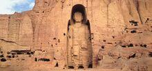 Standing buddha bamiyan