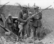 Mauser M1918 rifle with British troops