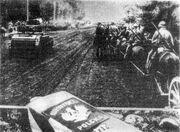 Soviet troops crossing Polish border