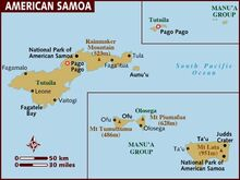 Map of american-samoa