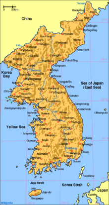 Map of korea en