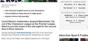 BBC Sport report FCB - MNC
