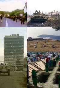 Collage Yugoslav wars