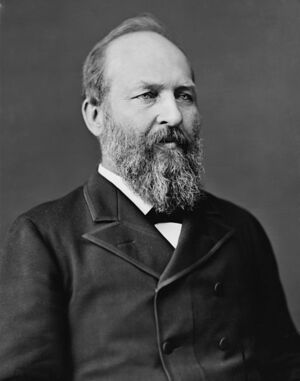 473px-James Abram Garfield, photo portrait seated