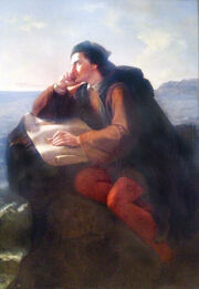 Inspiracion de Cristobal Colon by Jose Maria Obregon, 1856