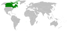Commonwealth of Canada map