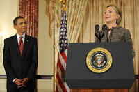 Hillary and Obama seal podium