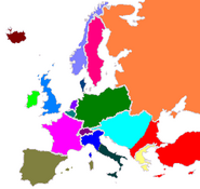 Map of Europe 1881