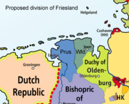 Proposed division of Friesland