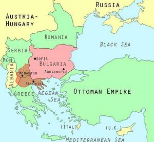Second Balkan War map 1913