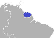 Location of Suriname (Satomi Maiden ~ Third Power)