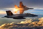 FA-18 Super Hornets of Strike Fighter Squadron 31 fly patrol, Afghanistan, December 15, 2008