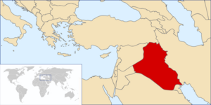 Location of the Iraq OTL