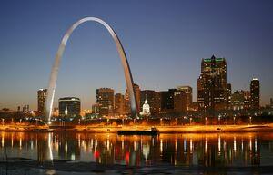 Cahokia (St. Louis) Skyline
