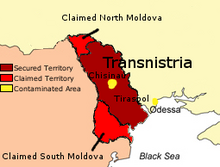 Map of Transnistria