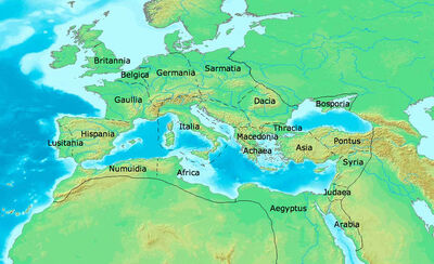 Roman admisitrative divisions 650 CE