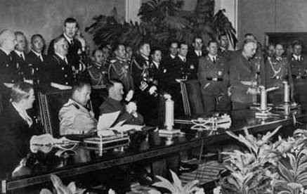 Signing ceremony for the Axis Powers Tripartite Pact;