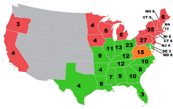 Electoral Map 1860