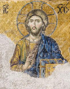 Christ Pantocrator Deesis mosaic Hagia Sophia