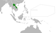 Location of Laos (Myomi Republic)
