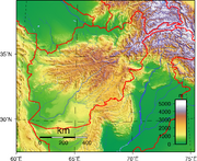 Afghanistan topography
