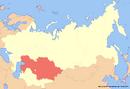 Location of Kazakhstan (New Union)