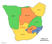 Map of South Africa (Russian America)
