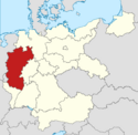 Locator map Rhineland in Germany (IM)