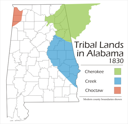 File:Alabama tribal land map 1830.png