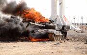 Destroyed Libyan tanks near Ajdabiya (SIADD)