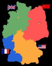 Deutschland Besatzungszonen 1945