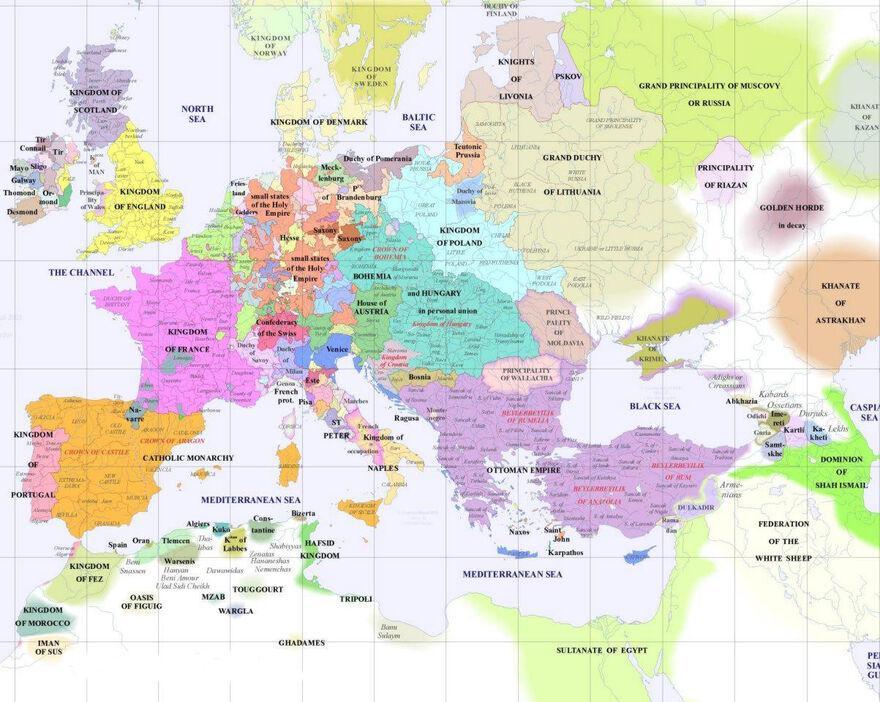 Europe 1500 AD