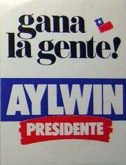 Afiche Candidatura de Aylwin