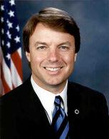 John Edwards, official Senate photo portrait