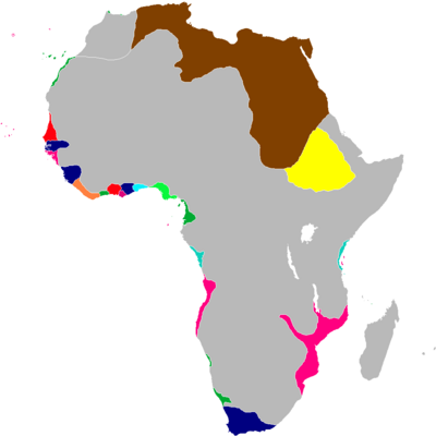 Scramble for Africa Map 1835