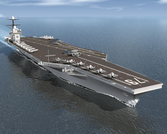 USS John S. McCain CVN-79 artwork