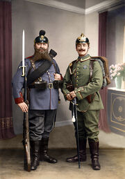 Bavarian and Prussian soldiers
