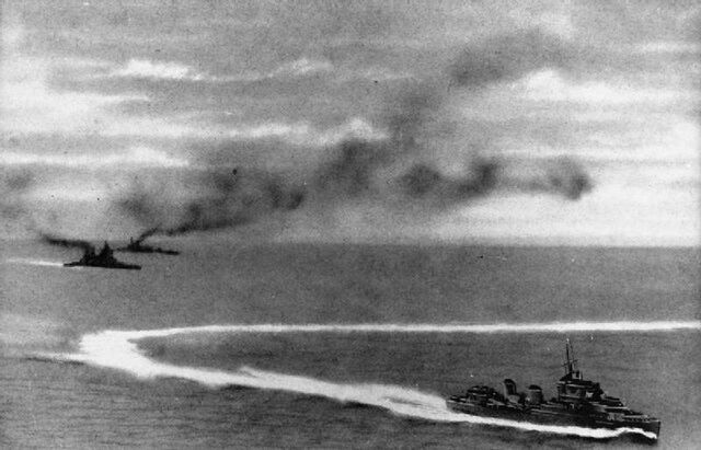 File:Brazilian fleet under attack American aircraft..jpg