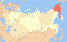 Location of Chukotka in the Soviet Union (New Union)