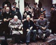 Yalta summit 1945 with Churchill, Roosevelt, Stalin