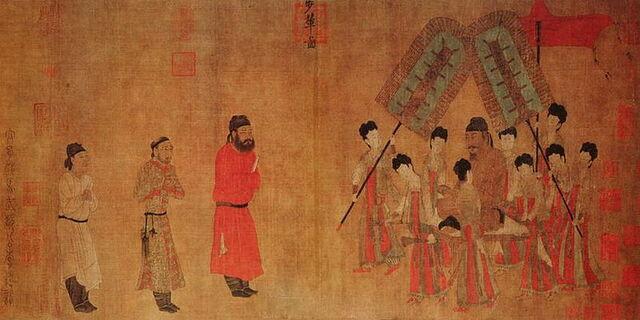 File:800px-Emperor Taizong Receiving the Tibetan Envoy(Bunian Tu).jpg